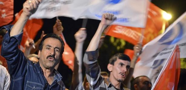 Mısır Askeri darbesi İstanbul'da protesto edildi