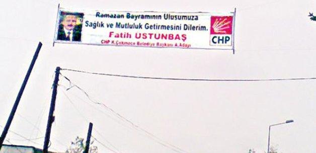 CHP'li  adayın bayram afişi alay konusu oldu