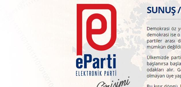 Türkiye'de bir ilk! Elektronik parti kuruldu