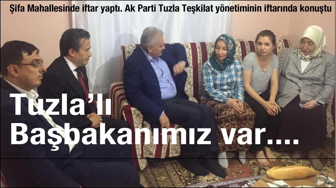 Başbakanımız Şifa mahallesinde cat kapı bir evde iftar yaptı.
