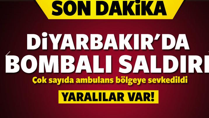 Diyarbakır'da bombalı saldırı: Yaralılar var!
