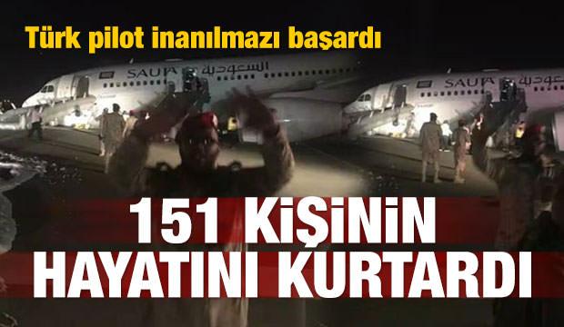 Türk uçağı Suudi Arabistan'da tehlike atlattı!